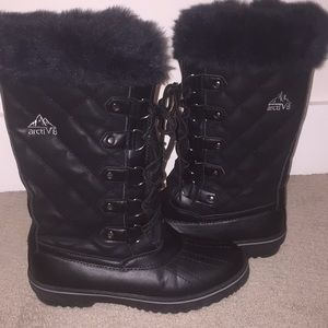 Shoes - black snow/winter boots